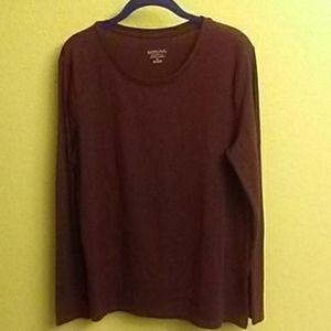 Merona Woman's Bordeaux Long sleeve tshirt XL